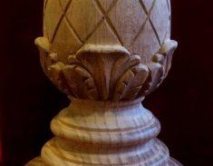 Balusterknop ruit met blad