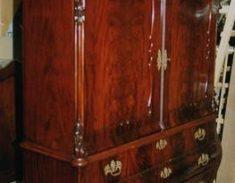mahonie kast restauratie